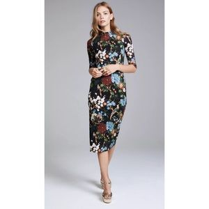 NWT Alice + Olivia Delora Fitted Floral Dress Sz 2